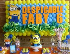 """Minions / Birthday """"Despicable Fabi""""   Catch My Party"""