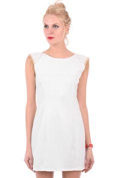 Sleeveless Bodycon Dress With Embellished Shoulders RP 422189. Dapatkan di http://septikundariningrum.wix.com/septiweb#!shop/cqjy/catalog/product/view/id/19736/s/sleeveless-bodycon-dress-with-embellished-shoulders/