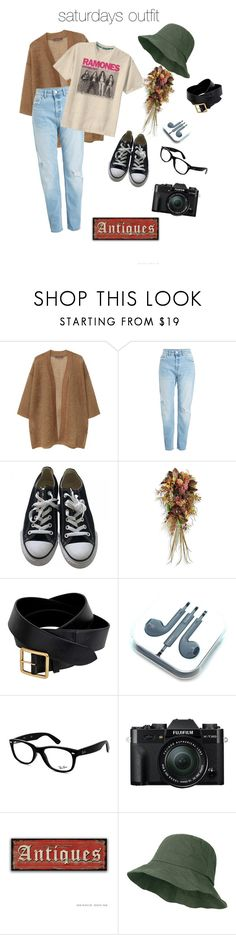 """my outfit for saturday"" by shesliterallyglowing on Polyvore featuring MANGO, Converse, Frontgate, Alexander McQueen, Ray-Ban, Fuji and vintage"