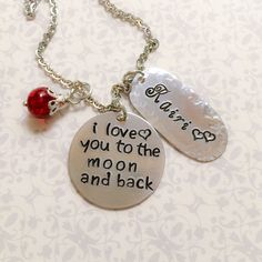 A personal favorite from my Etsy shop https://www.etsy.com/listing/211277990/personalized-i-love-you-to-the-moon-back