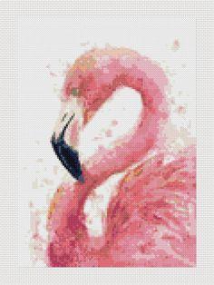 Flamingo cross stitch pattern flamenco punto de cruz por Lenyboop