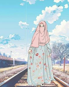 Hijab Drawing, Islamic Cartoon, Anime Muslim, Hijab Cartoon, Islamic Girl, Muslim Girls, Anime Art Girl, Cute Illustration, Hd Photos