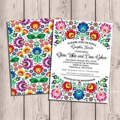Fiesta Couples Shower Invitation, 5x7, 4x8, or 6x9, Bridal Shower, Engagement Party, Digital on Etsy, $20.00