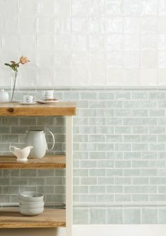 Cosmopolitan brick 4#x8# tile in Mint by The Winchester Tile Company, Creekside Tile Complany.