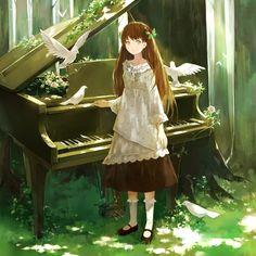Image about art in anime girl by MysteriousRose Fan Art Anime, Anime Art Girl, Piano Anime, Girls Manga, Piano Girl, Animé Fan Art, Arte Disney, Estilo Anime, Image Manga