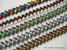 Beading by Beth: Lacy Zipper Stitch #Seed #Bead #Tutorials