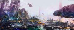 ArtStation - City 308e, Eric Tranchefeux
