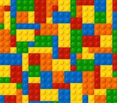 Lego Page Border Template Colored lego background vector