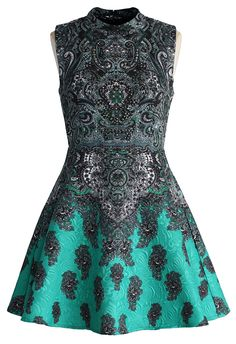 Beads and Baroque Jacquard Dress - Dress - Retro, Indie and Unique Fashion