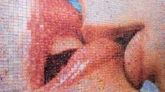 The freedom Kiss photomosaic became a top spot for tourists to take selfies and kiss photos. Saw it many times on #Instagram feed but had no idea where it was. I saw it by chance walking through Gothic quarter and couldnt resist to snap a picture of it. Sorry Im a disappointment and didnt take a selfie. The 4000 photo mosaic is is the protagonist.  #elpetódelallibertat #photomosaic #Gothicquarter #barrigótic #Barcelona #HypeinCatalunya #catalunyaexperience #clikcat #descobreixcatalunya…