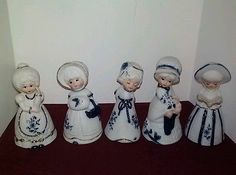 "BELLS BY JASCO, 4 1/2"" tall /5 White Porcelain"