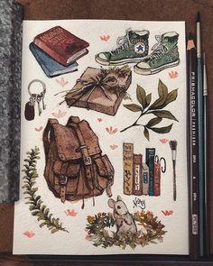 Art Drawings Sketches, Cool Drawings, Arte Sketchbook, Sketchbook Inspiration, Character Art, Character Concept, Animation Character, Concept Art, Watercolor Art