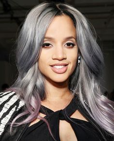 Dascha Polanco: Though Polanco's gray-to-lilac ombré hair color certainly made a statement, the star revealed it wasn't the real deal.