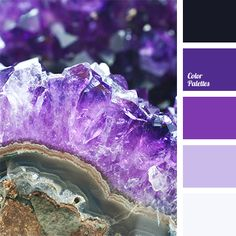 Violet shades of amethyst crystals dazzle one's eyes. Use this palette for bathroom decoration, and every time you enter it, you will feel bliss..