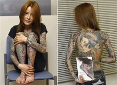 Japanese Girl Full Body Tattoo Designs Readmore http://tattoosclick.com/full-body-tattoo-designs