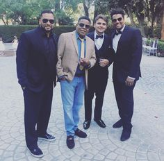 Taryll, Tito, Prince & TJ Jackson at Siggy wedding, 9/23/2017