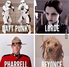my 10 thoughts on the grammy awards Daft Punk, Lorde, Pharrell, Beyonce Daft Punk, Lorde, Funny Images, Funny Photos, Grammy Awards 2014, Academy Awards, Royals, Bae, Smiles And Laughs