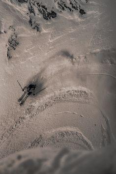 powder skiing in Austria: Bird's Eye View by Christoph Oberschneider, via 500px