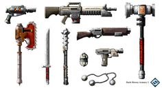 Dark Heresy 2nd edition armory, got to reimagine several iconic weapons and items in the 40k universe! Loved it!