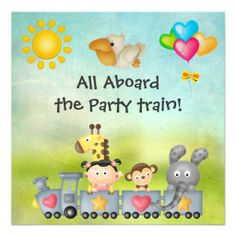Cute Animals & Girl in Train Birthday Party Announcements in each seller & make purchase online for cheap. Choose the best price and best promotion as you thing Secure Checkout you can trust Buy bestThis DealsHere a great deal...