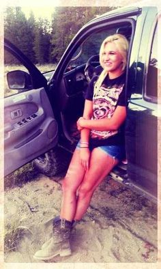# Country girl # Toyota # cowgirl boots # blonde #country # shooting