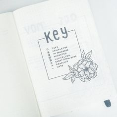 "1,770 Likes, 8 Comments - Liz • Bullet Journal (@bonjournal_) on Instagram: ""New #bulletjournal , new #bulletjournalkey """