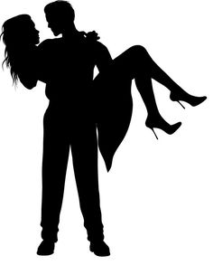 Romantic Couple Silhouettes - People Characters_super for crayon art ;D Mais Silhouette Couple, Silhouette Design, Couple Painting, Couple Art, Couples In Love, Romantic Couples, Silouette Art, Art Sketches, Art Drawings