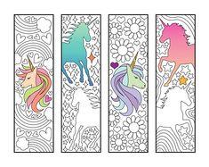 Unicorn Bookmarks – PDF Zentangle Coloring Page – Scribble & Stitch coloriage halloween à imprimer Unicorn Coloring Pages, Printable Coloring, Coloring Pages For Kids, Coloring Sheets, Coloring Books, Zentangle, Heart Bookmark, Unicorn Printables, Bookmarks Kids