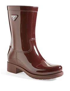 #PRADA Rubber Rain Boot
