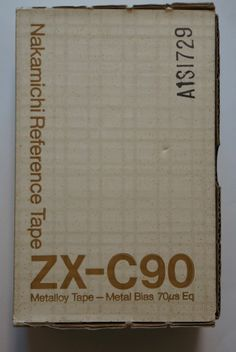 Nakamichi ZX-C90 Reference Tape Cassette Metalloy Tape Metal Bias Box of 10