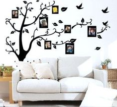 Wall Decal Sticker Removable Photo Frame Tree