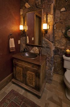 Lynne Barton Bier - Home on the Range Interiors - eclectic - powder room - denver - by Lynne Barton Bier - Home on the Range Interiors