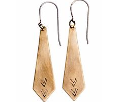 Edgy Peak Earrings by Another Feather