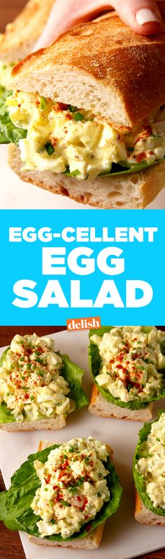 You've never had egg salad that tasted this good before. Get the recipe on Delish.com.