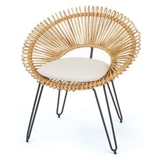 Sunburst Wicker Chair ($1,390) ❤ liked on Polyvore