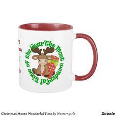Christmas Moose Wonderful Time Mug