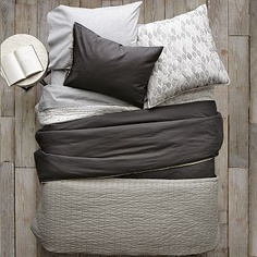 I love the Layered Bed Looks - Dark Luxe Linen on westelm.com