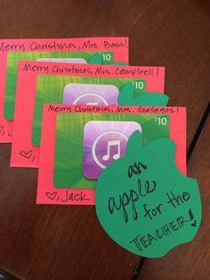 Teacher gifts Xmas 2013