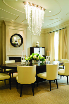 Dining room lighting, chandelier, crystal chandelier. Cascade Luminaire in Canton, OH.