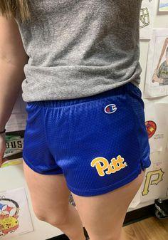 Champion Pitt Panthers Womens Blue Mesh Shorts - 14754446 Pittsburgh Penguins, Pittsburgh Steelers, Pitt Panthers, Team Logo, Champion, Mesh, Workout, Shorts, Pants