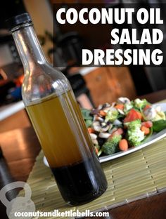 Coconut Oil Salad Dressing Recipe | from Coconuts and Kettlebells blog