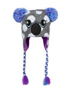 Koala Face Earflap Hat