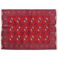 """4'4"""" x 3'5"""".Vintage Persian rug, Oriental floor carpet, Luxury Persian rug made of merino wool, Geometric design, Hand knotted, area rug, Vintage wool rug, Red Rug, Code : S0101297"""