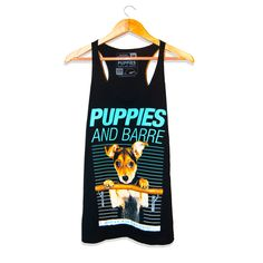 New and improved with even softer material! Printed on a super-soft tri-blend racerback tank. Silkscreened ink because Puppies are Forever.