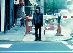"""Classic 90s Video - The Verve's Richard Ashcroft in the streets of London for the infamous video """"Bitter Sweet Symphony"""", in which he proceeded to walk in a straight line oblivious to everything around him!"""