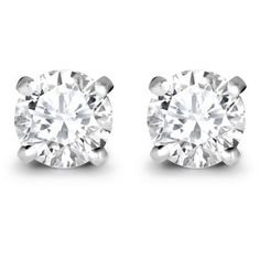 Asprey Round Brilliant Cut Diamond Stud Earrings