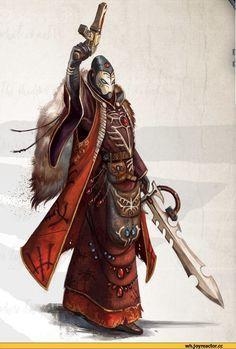 warhammer 40000,фэндомы,eldar,Warlock,art,арт,красивые картинки,Warlocks