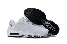 pretty nice 33273 8c4db Nike Air Max 95 KPU Triple White Black Mens Athletic Sneakers NIKE-NSZ001240