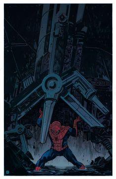 HeroChan — Spider-Man Art by Joshua Hixson Black Spiderman, Spiderman Art, Amazing Spiderman, Marvel Vs, Marvel Heroes, Captain Marvel, Man Movies, Comic Movies, Spader Man