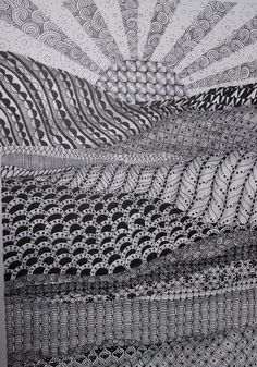 Pigma Micron Pen on Strathmore Mixed Media paper, Shaded with Copic marker. 9 x 12 Zentangle Drawings, Abstract Drawings, Zentangle Patterns, Zentangles, Ink Drawings, Fabric Patterns, Landscape Drawings, Landscape Art, Pigma Micron